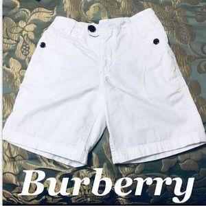 Burberry Boys White Adjustable Summer Shorts